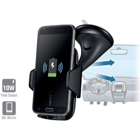 4smarts VoltBeam Grip 10W Wireless Fast Charging Car Holder - Black