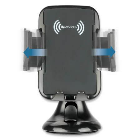 4smarts VoltBeam Grip 10W Wireless Fast Charging Car Holder - Black
