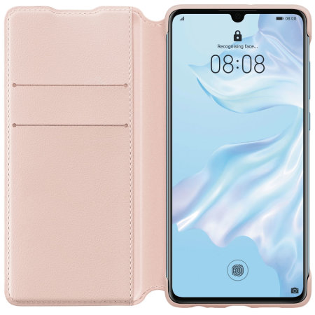 Official Huawei P30 Wallet Case - Pink