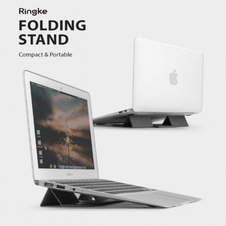 Ringke 2-in-1 Mouse Mat & Universal Laptop Folding Stand - Black