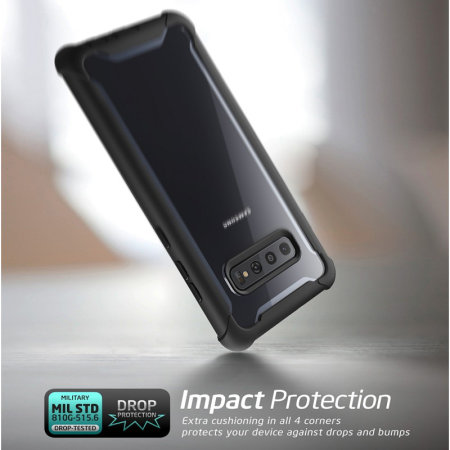 i-Blason Ares Samsung S10 Plus Case and Screen Protector - Black