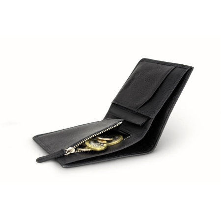 Monedero Nodus Hifold Coin - Ébano negro