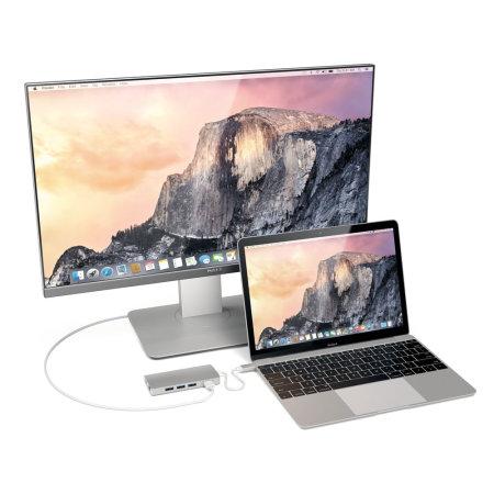 Satechi USB-C Aluminium Multi-Port 4K HDMI Adapter & Hub V2 - Silver