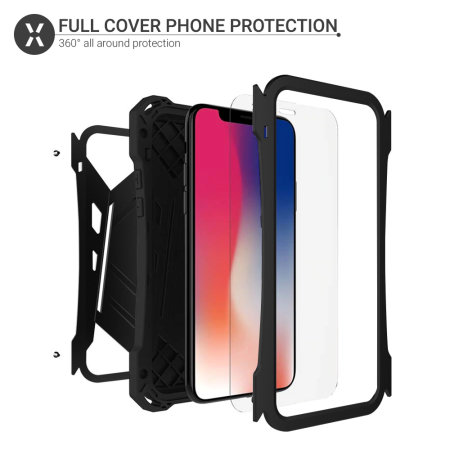Olixar Titan Armour 360 Protective iPhone XS Max Case - Black