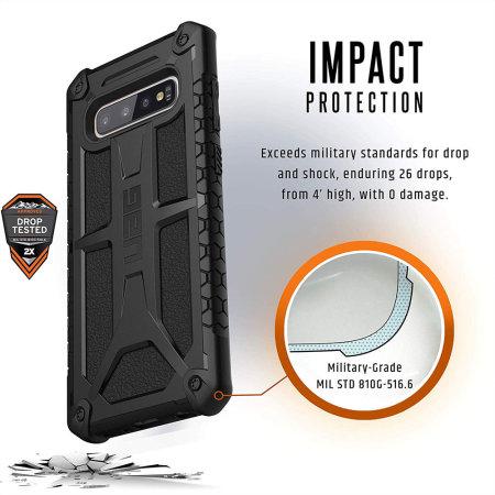 UAG Monarch Samsung Galaxy S10 Plus Case - Black