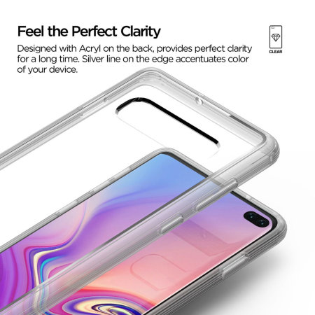VRS Design Crystal Chrome Samsung Galaxy S10 Plus Case - Clear