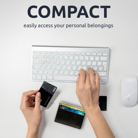 Nodus Compact Card Holder - Ebony Black