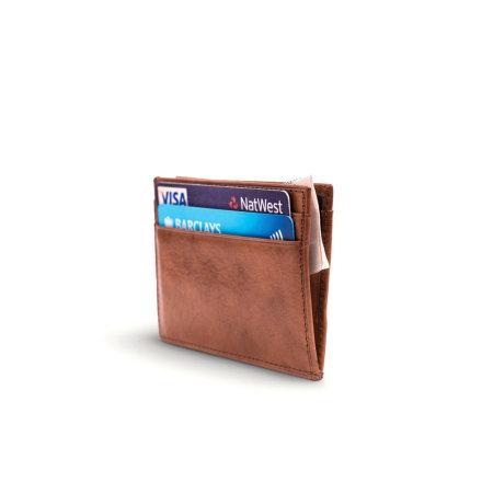 Nodus Compact 4 Card Holder - Chestnut Brown
