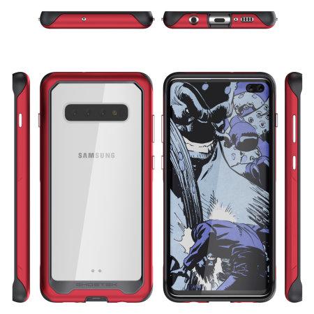 Ghostek Atomic Slim 2 Samsung Galaxy S10 Plus Tough Case- Red