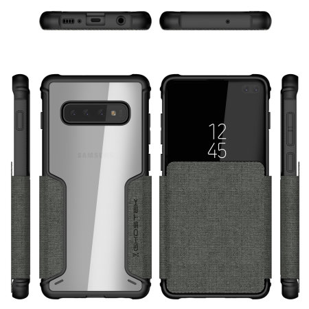 Ghostek Exec3 Samsung Galaxy S10 Plus Wallet Case-Grey
