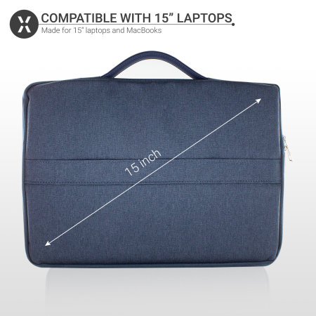 "Olixar Canvas 15"" Laptoptasche - Blau"
