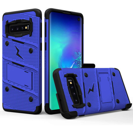 Zizo Bolt Series Samsung Galaxy S10 Case - Blue