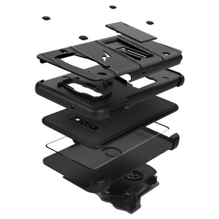 Zizo Bolt Samsung Galaxy S10e Tough Case and Screen Protector - Black
