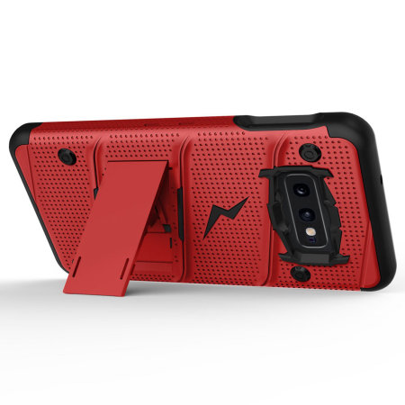 Zizo Bolt Series Samsung Galaxy S10e Case - Red