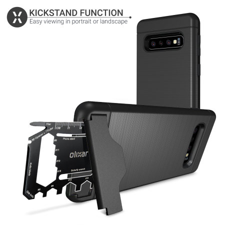 Olixar X-Ranger Samsung Galaxy S10 Plus Survival Case - Tactical Black