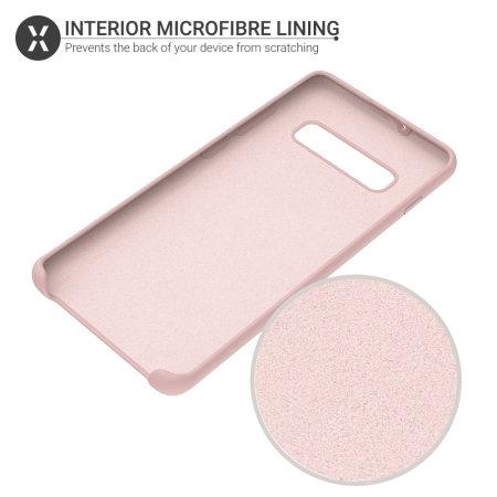 Olixar Samsung Galaxy S10 Soft Silicone Case - Pastel Pink