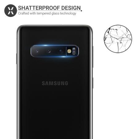 Olixar Samsung Galaxy S10 Tempered Glass Camera Protectors - Twin Pack