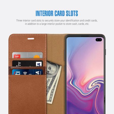 Obliq K3 Samsung Galaxy S10 Plus Wallet Case - Brown