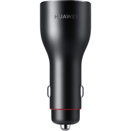 Official Huawei P20/P20 Pro SuperCharge Dual Port Car Charger - Black