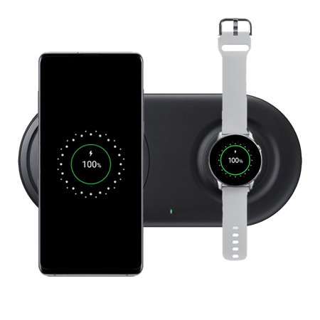 Official Samsung Qi Wireless Fast Charging 2.0 Duo Pad - Black