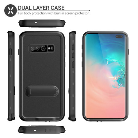 Olixar Terra 360 Samsung Galaxy S10 Plus Protective Case - Black