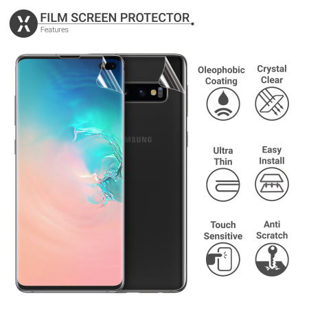 Olixar Front And Back Samsung Galaxy S10 Plus TPU Screen Protectors