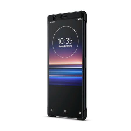 Official Sony Xperia 1 Style Cover Touch Case SCTI30  - Black