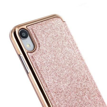 coque iphone xr rose miroir