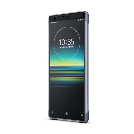 Official Sony Xperia 1 Style Cover Touch Case SCTI30  - Grey