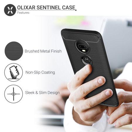 Funda Motorola Moto G7 Olixar Sentinel con Protector de Pantalla