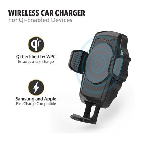 Scosche Qi Wireless Charging Car Vent Holder - Black
