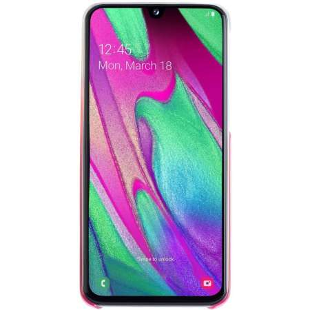Official Samsung Galaxy A40 Gradation Cover Case - Pink