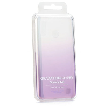 Official Samsung Galaxy A40 Gradation Cover Case - Violet