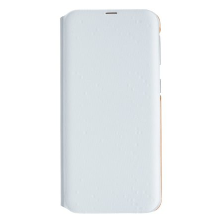 Official Samsung Galaxy A40 Wallet Flip Cover Case - White