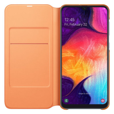 separation shoes 79643 0ae0b Official Samsung Galaxy A50 Wallet Flip Cover Case - White