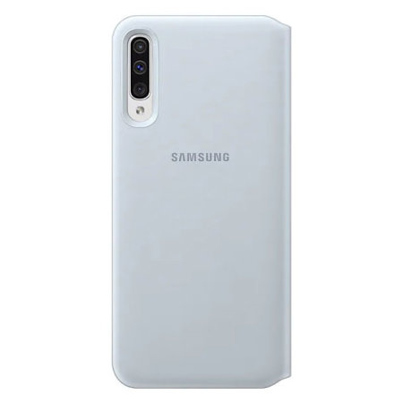 Official Samsung Galaxy A50 Wallet Flip Cover Case - White