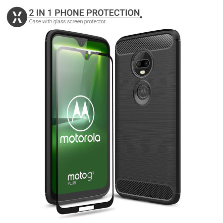 Olixar Sentinel Motorola Moto G7 Plus Case And Glass Screen Protector