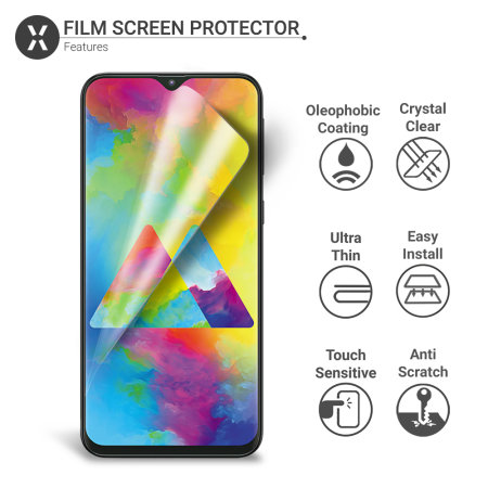 Olixar Samsung Galaxy M20 Film Screen Protector 2-in-1 Pack