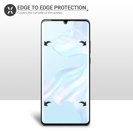 Olixar Huawei P30 Pro Full Cover Glass Screen Protector - Black