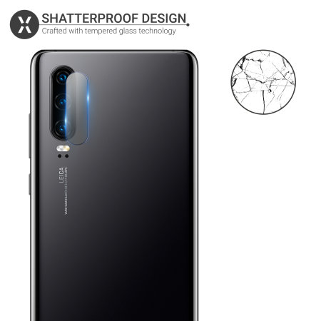 Olixar Huawei P30 Tempered Glass Camera Protectors - Twin Pack