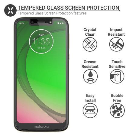 Olixar Motorola Moto G7 Play Tempered Glass Screen Protector