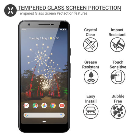 Olixar Google Pixel 3a Tempered Glass Screen Protector