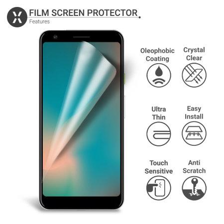 Olixar Google Pixel 3a XL Film Schermbeschermer - 2 Eenheden