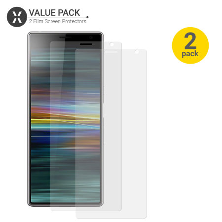 Olixar Sony Xperia 10 Plus Film Bildschirmschutz 2-in-1 Packung