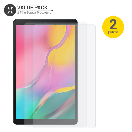 Olixar Samsung Tab A 10.1 2019 Film Screen Protector 2-in-1 Pack