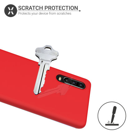 Olixar Soft Silicone Huawei P30 Case - Red