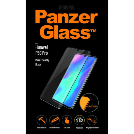 PanzerGlass Case Friendly Huawei P30 Pro Screen Protector - Black