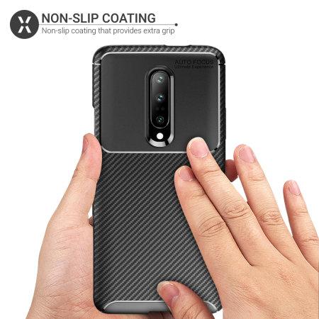 Olixar Carbon Fibre OnePlus 7 Pro Case - Black