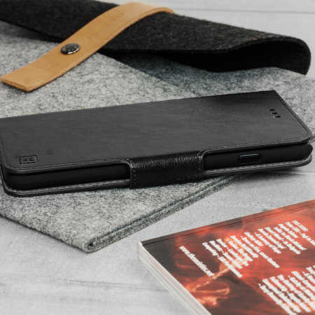 Olixar Leather-Style LG G8 Wallet Stand Case - Black