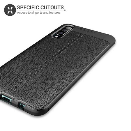 Olixar Attache Samsung Galaxy A50 Leather-Style Case - Black